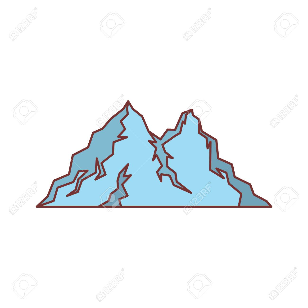 ice blue mountain icon cartoon illustration of mountain vector rh 123rf com mountain vector clip art mountain vector art