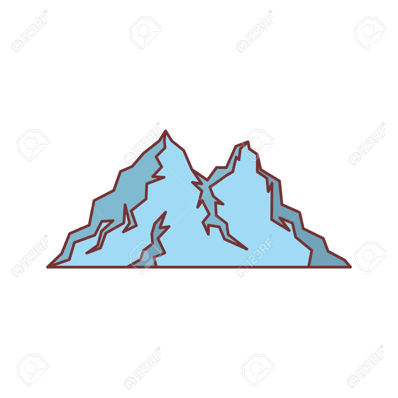 ice blue mountain icon cartoon illustration of mountain vector rh 123rf com mountain vector image mountain vector image