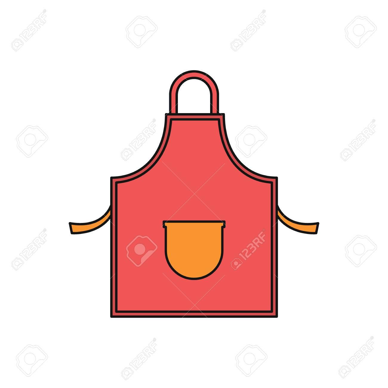 Icono De Dibujos Animados De Delantal De Cocina Ilustracion De