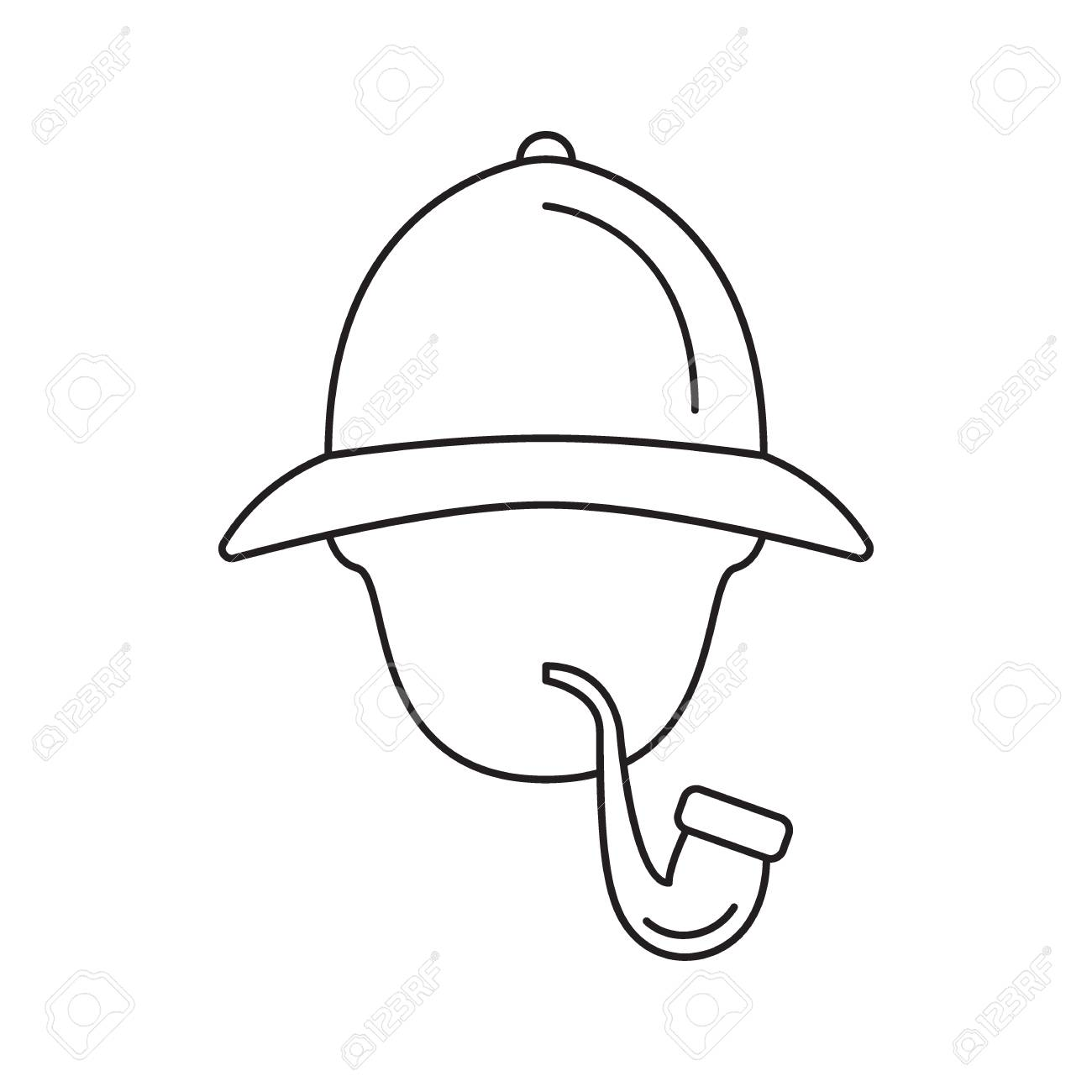 ee089742e Sherlock Holmes icon. Outline Sherlock Holmes vector icon for..