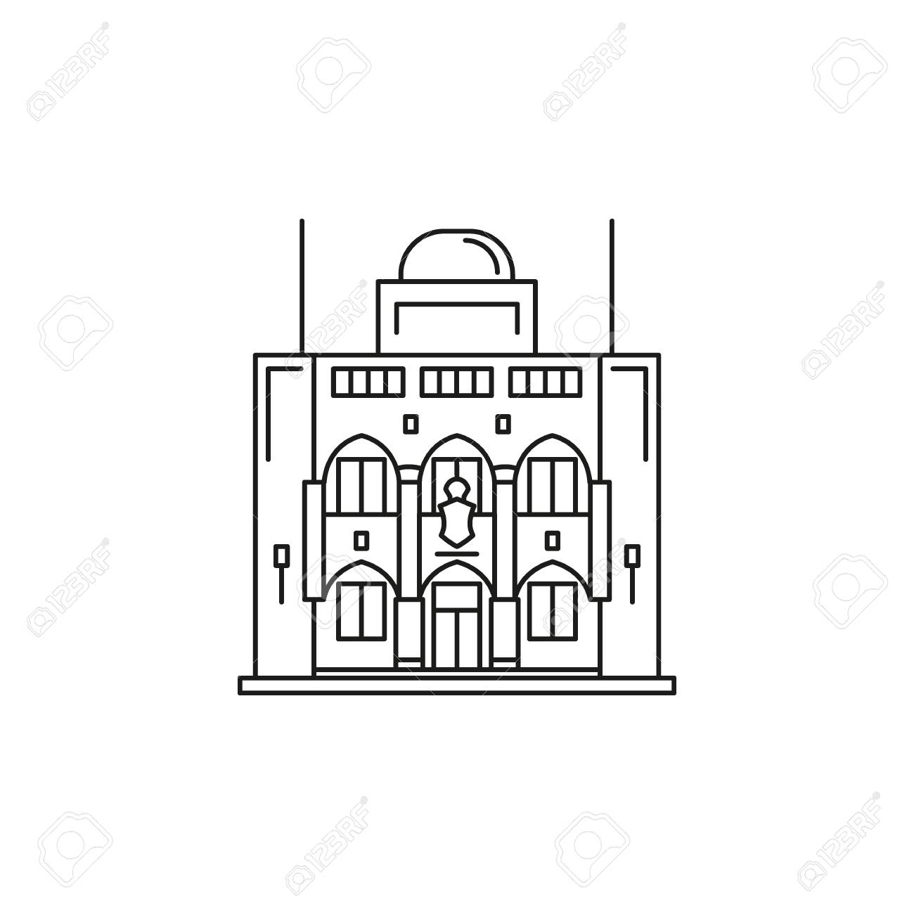 Presidential Palace Icon. Outline Presidential Palace Vector ... on magic kingdom outline, girl outline, village outline, people outline, hospital outline, aqueduct outline, church outline, shop outline, stone outline, zoo outline, apartment outline, coliseum outline, forbidden city outline, bridge outline, beach outline, art outline, pagoda outline, history outline, car outline, temple outline,