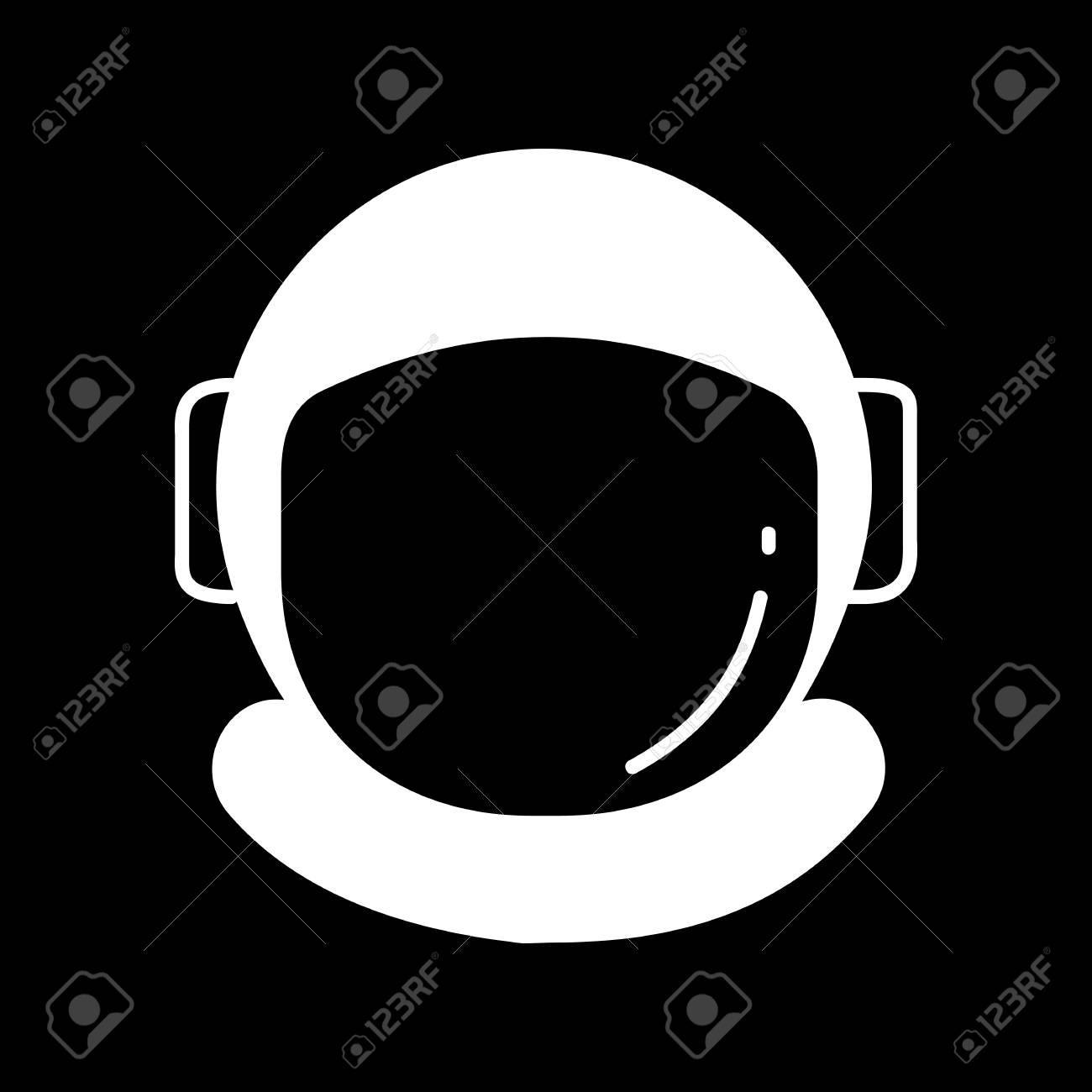 astronaut helmet icon silhouette astronaut helmet vector icon