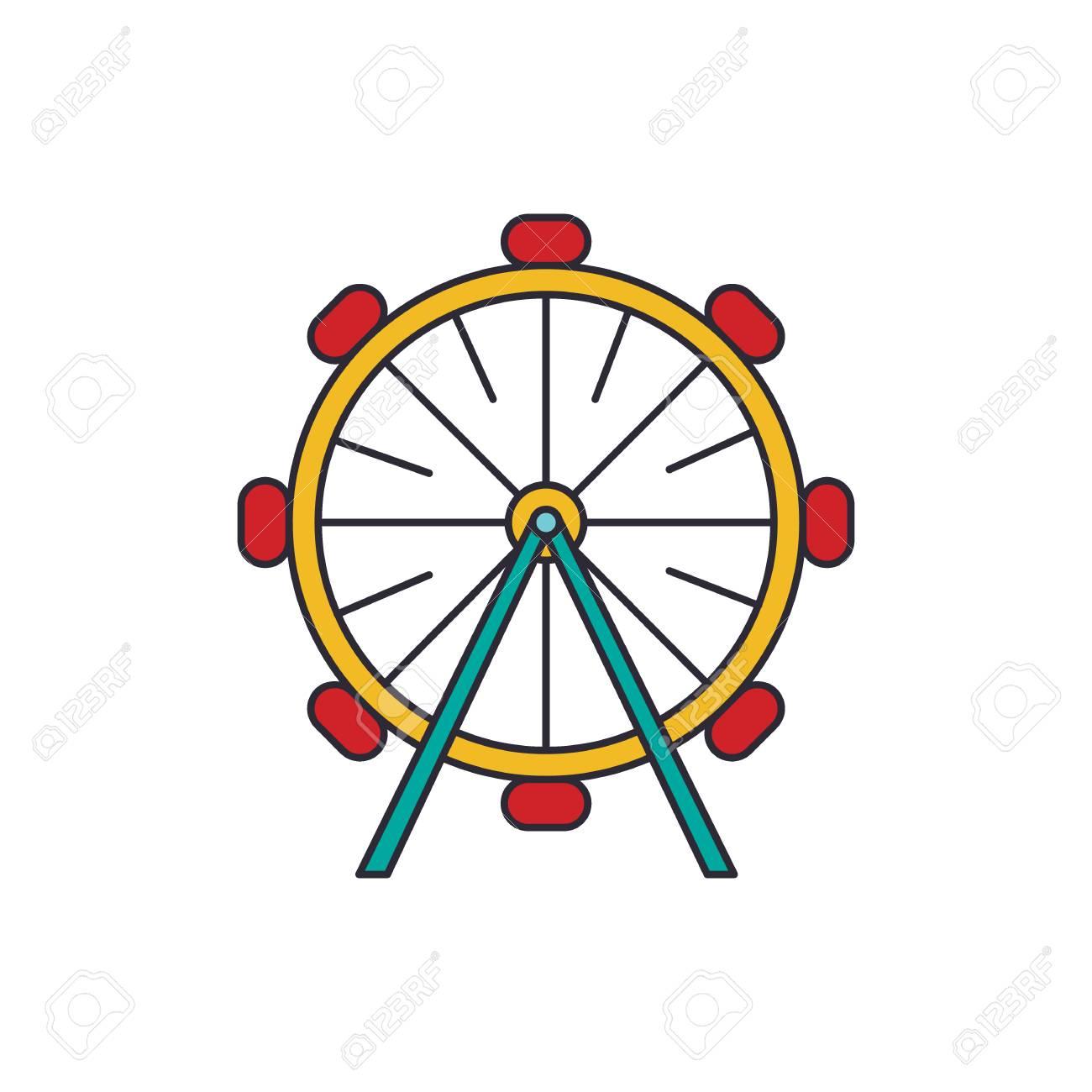 Ferris Wheel Icon Cartoon Ferris Wheel Vector Icon For Web Design Royalty Free Cliparts Vectors And Stock Illustration Image 108386807