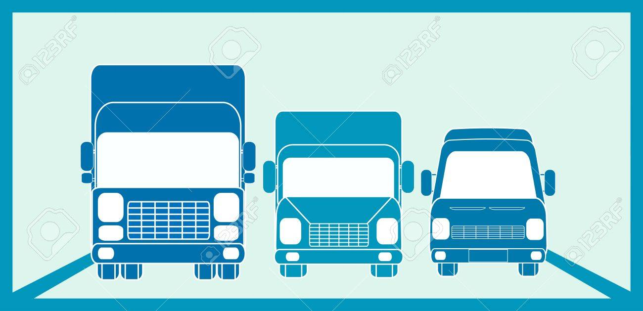 blue sign cargo freight with three transport objects Stock Vector - 12340680