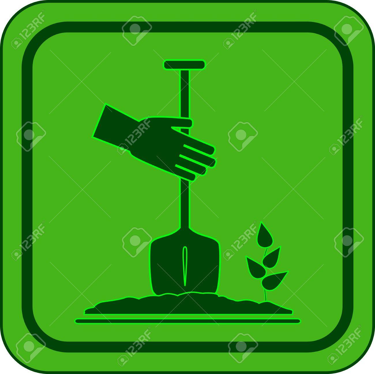 green garden icon - symbol landscaping - 13180367