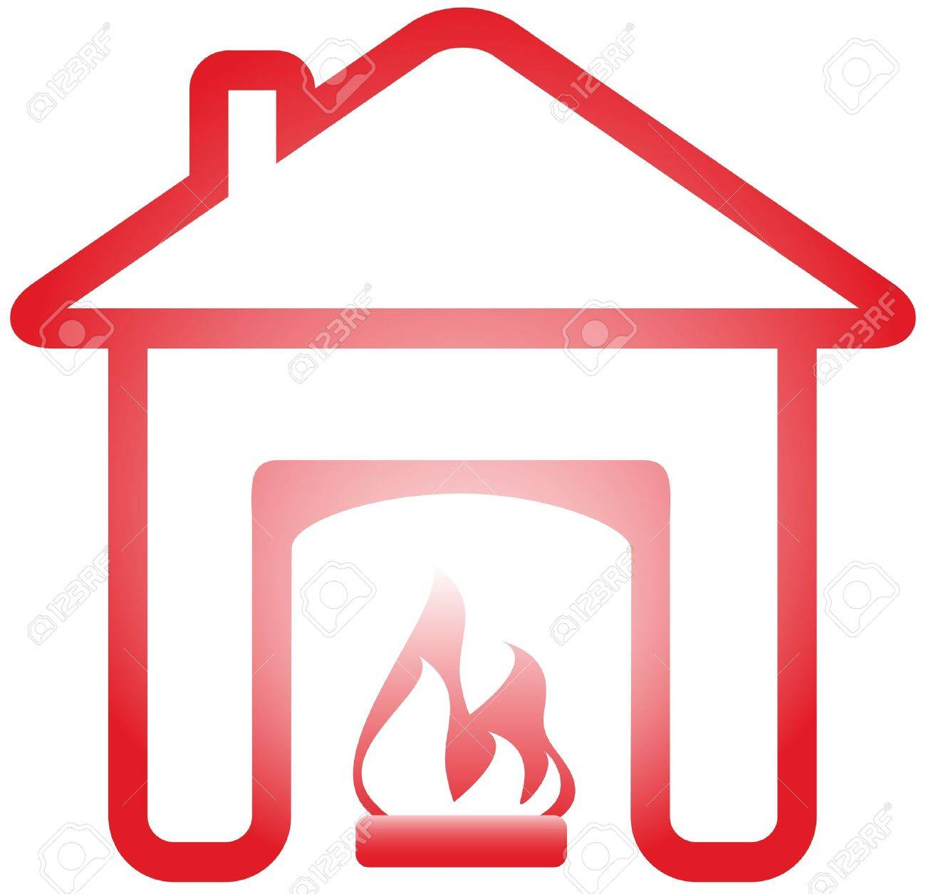 4,804 Isolated Fireplace Stock Vector Illustration And Royalty ...