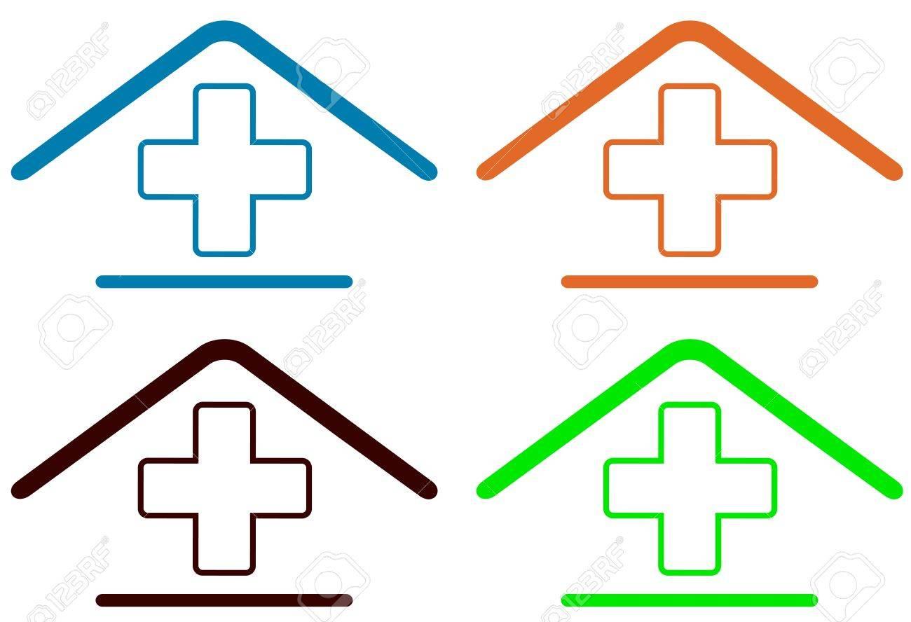 set sign - home medical symbol - 17818726