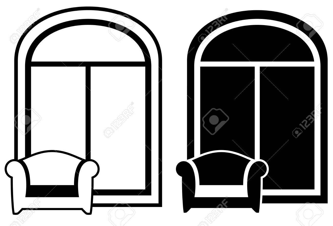 Window clipart black and white for Window Clipart Black And White  26bof
