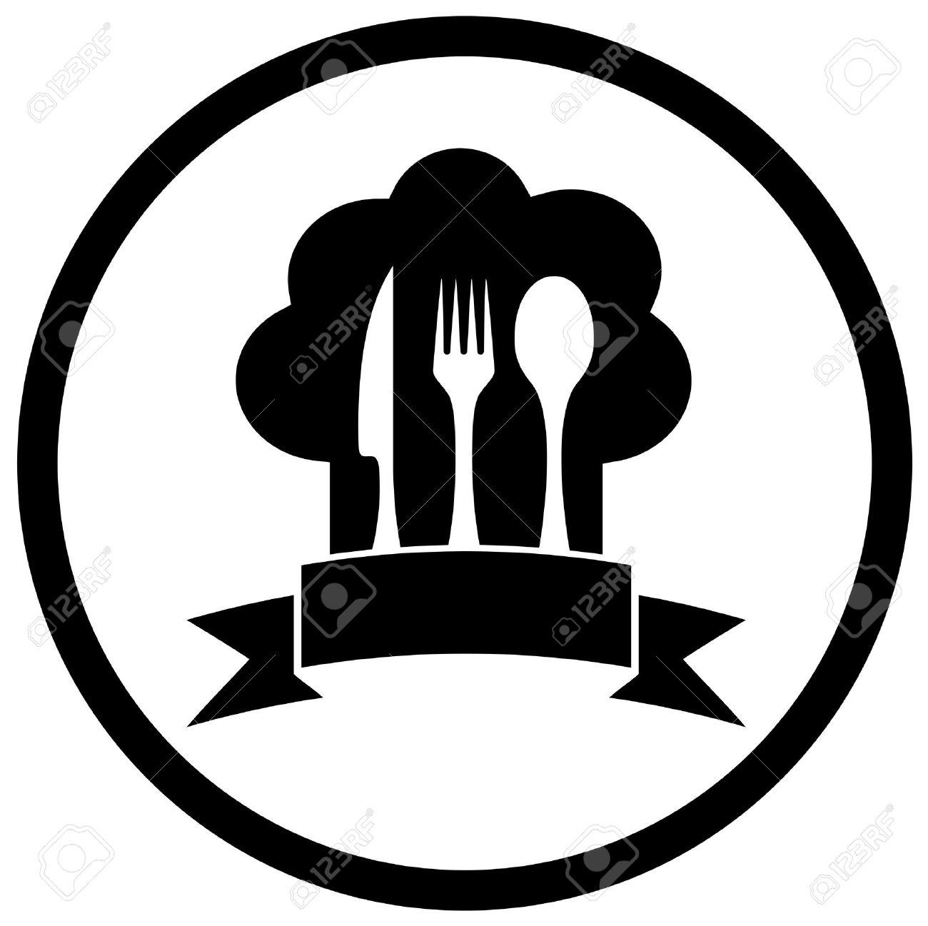 Chef Icone De Chapeau Avec Des Ustensiles De Cuisine Ustensile Clip
