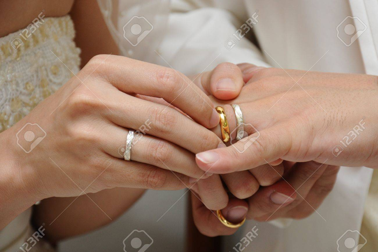 wedding ring finger for groom