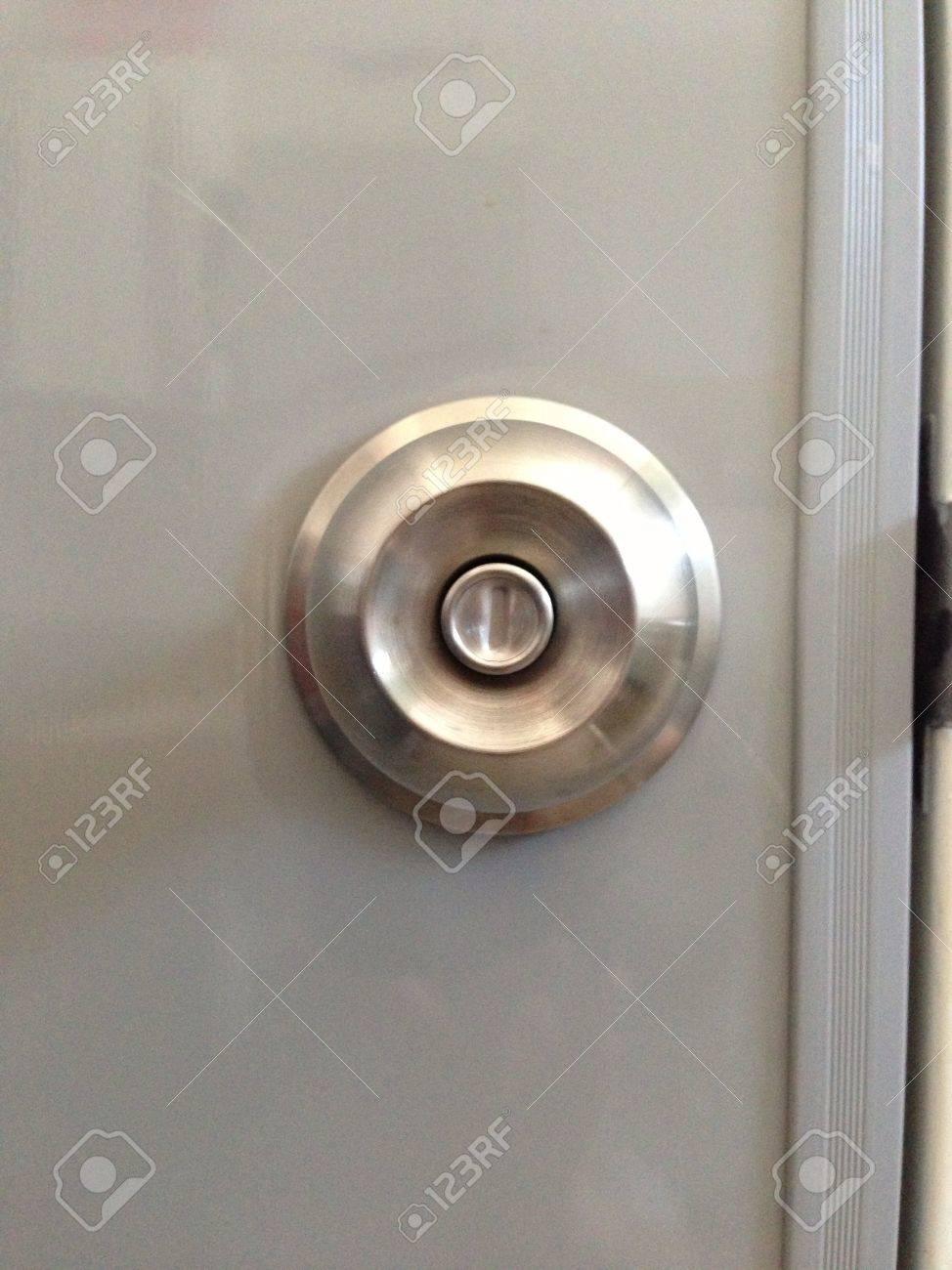 door knob front view. Modren Front Silver Door Knob Front View Stock Photo  20489358 Intended Door Knob Front View A