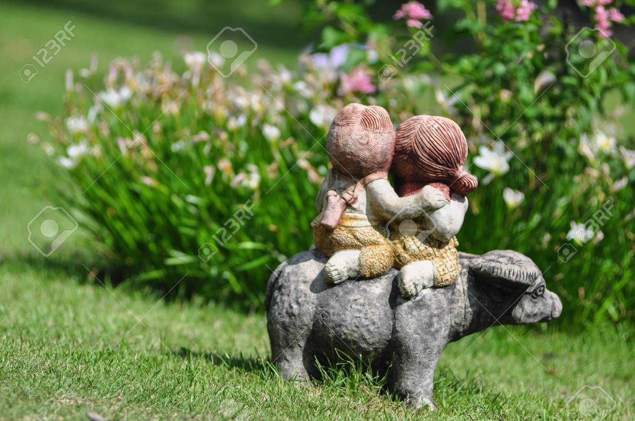 Doll In The Garden Stock Photo   22695656