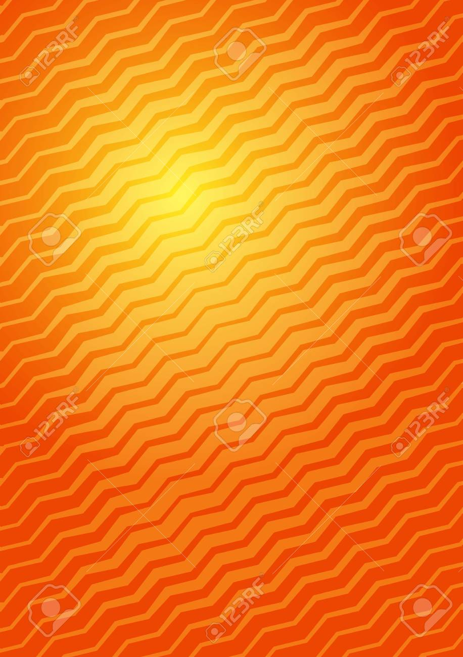 Abstract Orange Yellow Background A4 Format Halftone Pattern