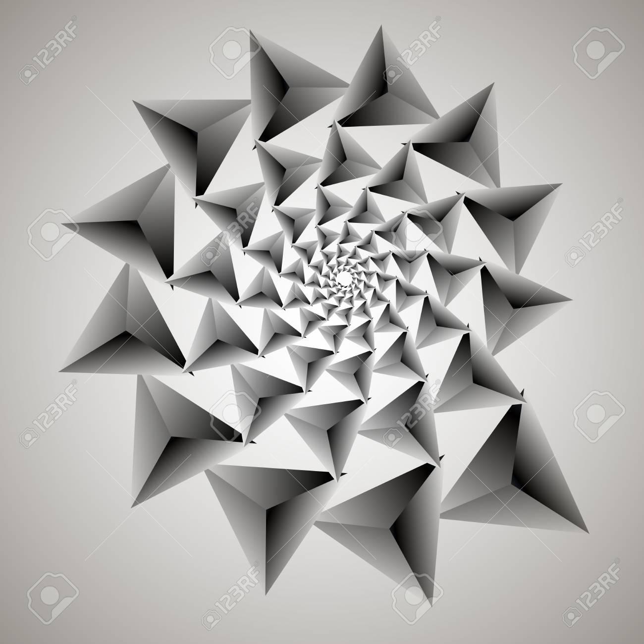 Remolino, Vórtice De Fondo. Espiral Vectorial Giratoria. Patrón De ...