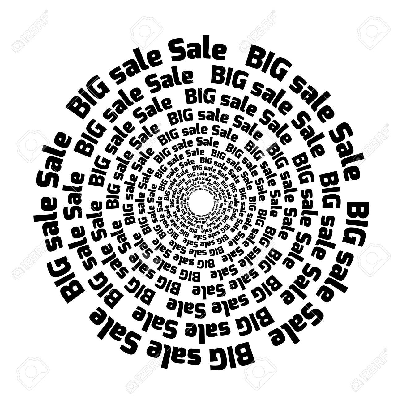 Big Sale Label Design. Round Label Template. Inscription. Black ...