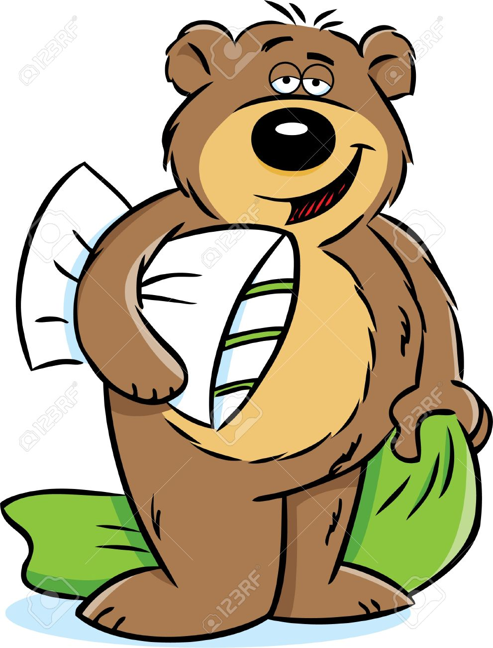Bear Holding A Pillow And Blanket Royalty Free Cliparts, Vectors ... for Pillow And Blanket Clipart  300lyp