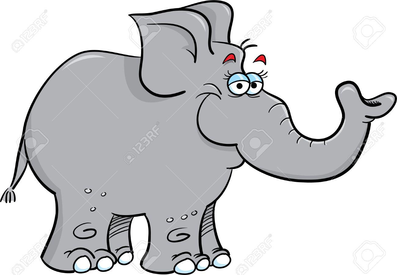 Dessin D Un Éléphant illustration de dessin animé d'un éléphant gris clip art libres de