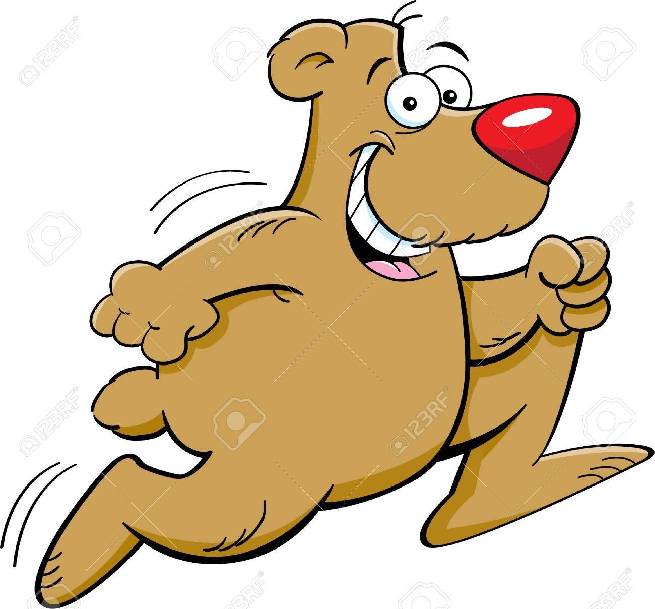 Cartoon illustration of a bear running Stock Vector - 14374635