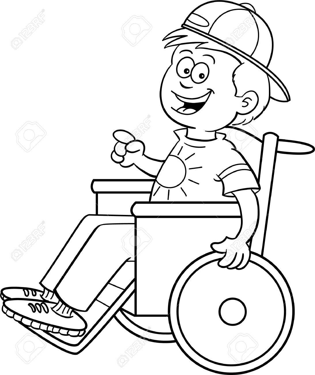 dibjo silla ruedas niño