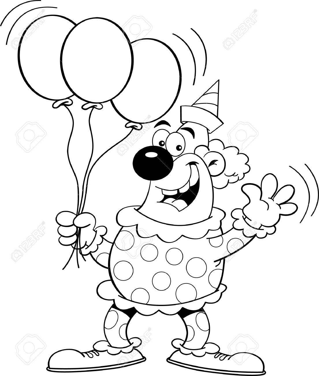 Schön Clown Mit Luftballons Malvorlagen Fotos - Druckbare ...