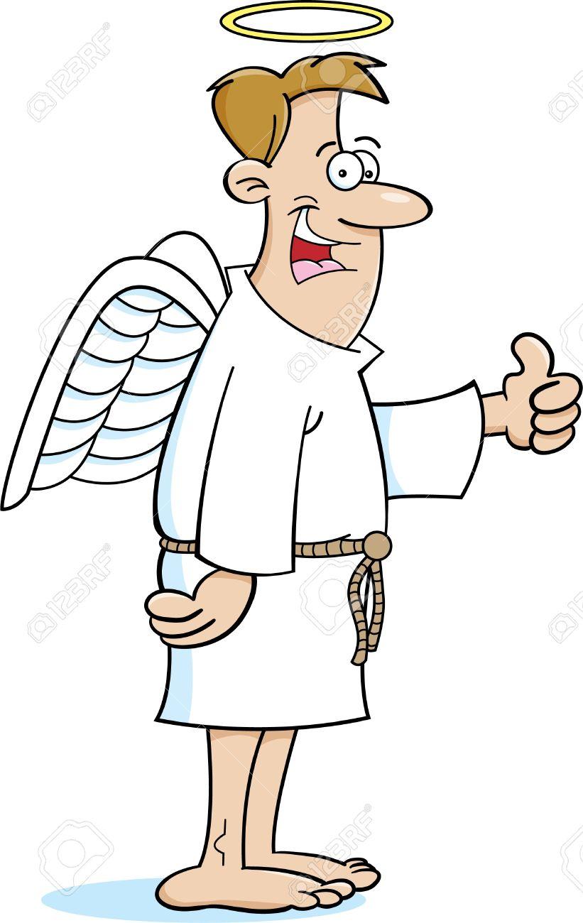 cartoon illustration of an angel royalty free cliparts vectors