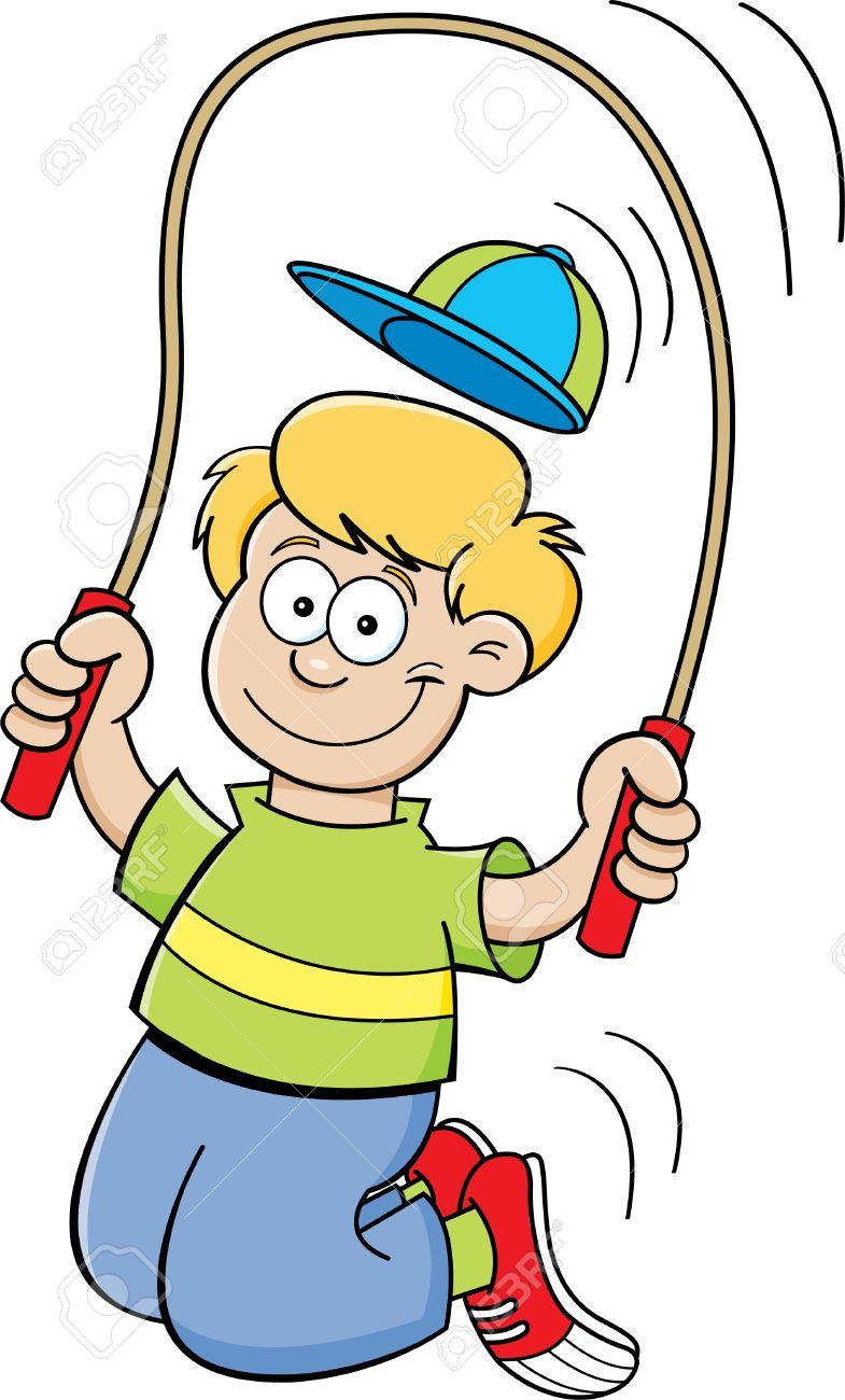 cartoon illustration of a boy jumping rope royalty free cliparts rh 123rf com jump rope clip art free jump rope clip art free