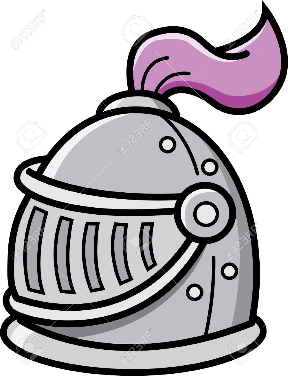 cartoon illustration of a knight s helmet royalty free cliparts