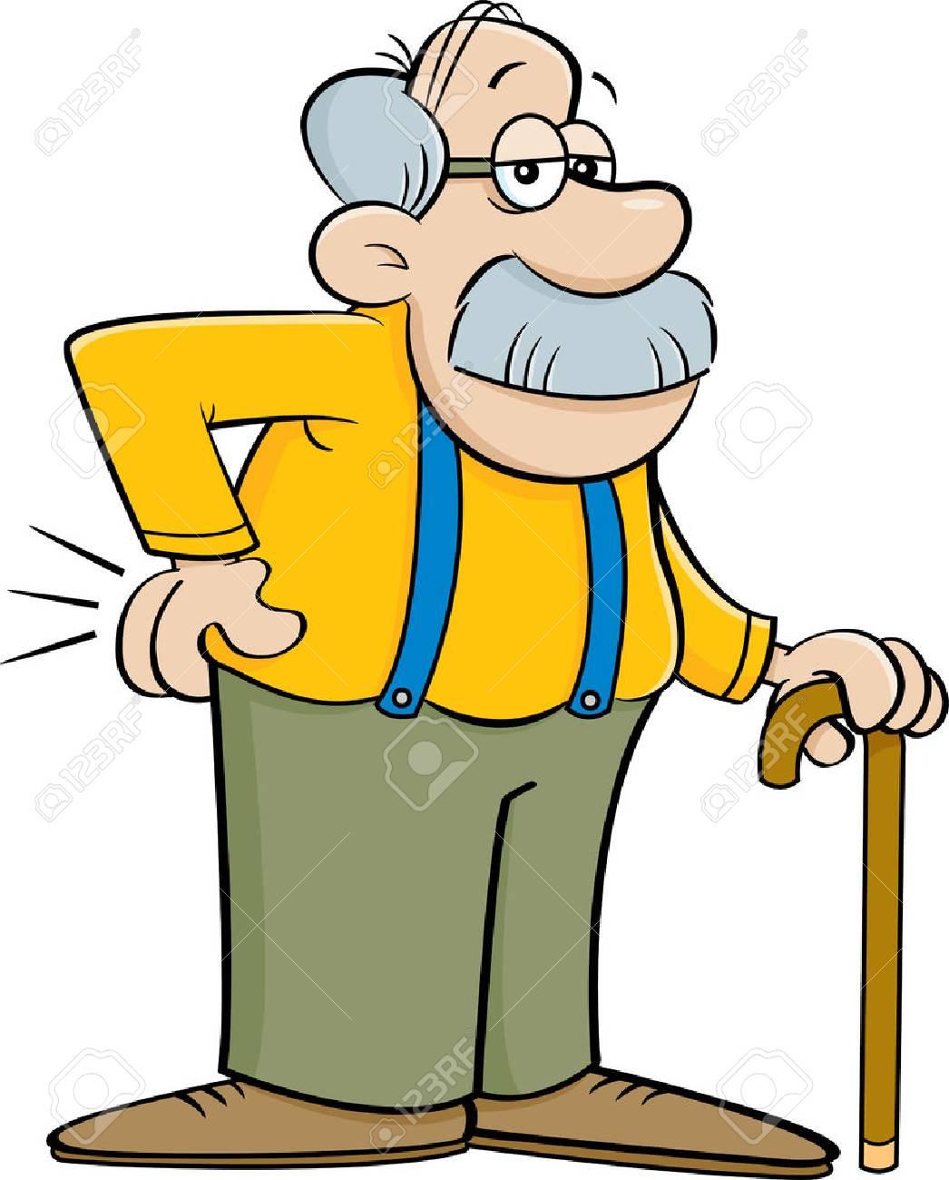 Dessin animé vieil homme sexe