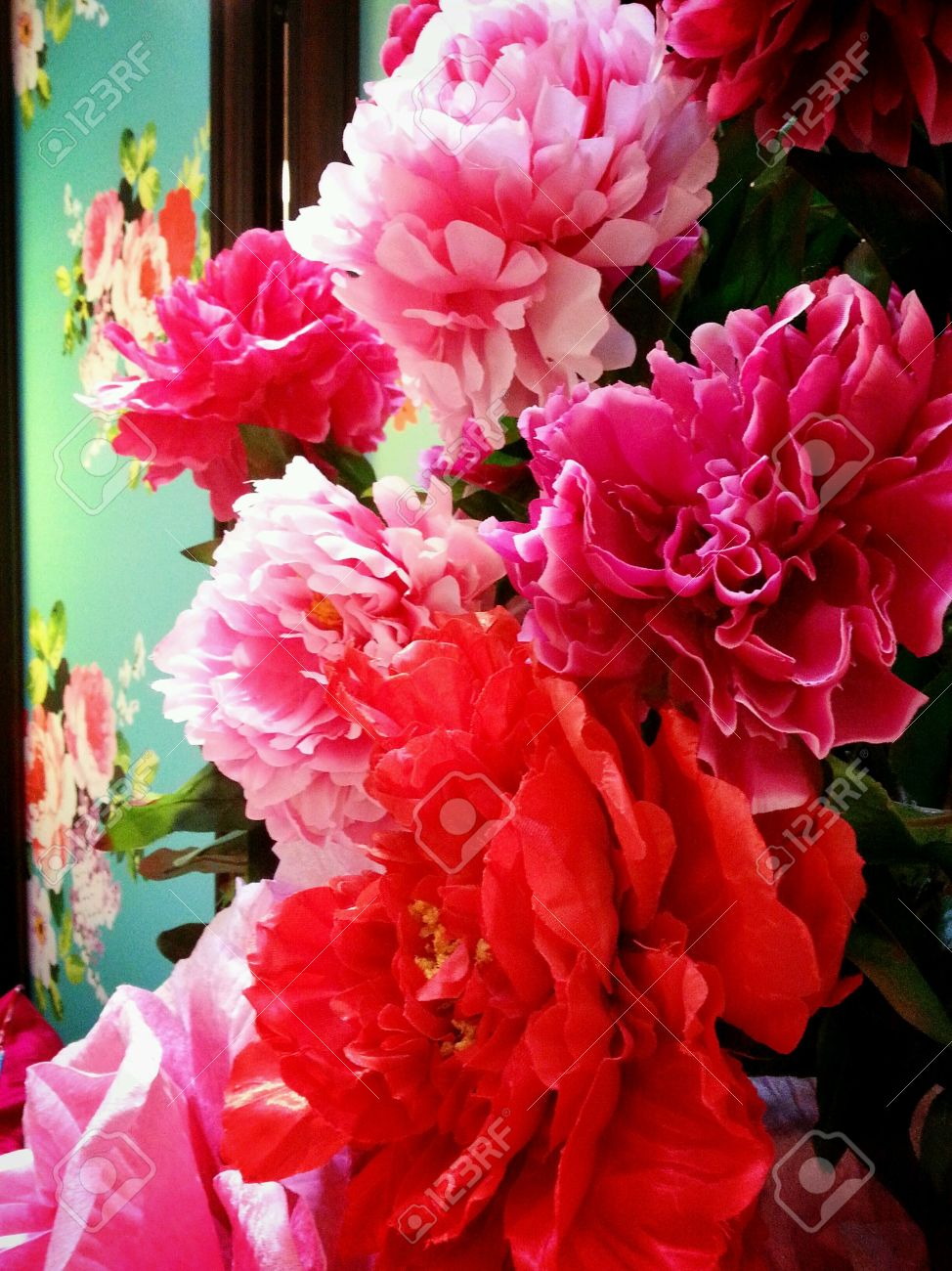 Bright Coloured Decoration Flowers For Chinese New Year