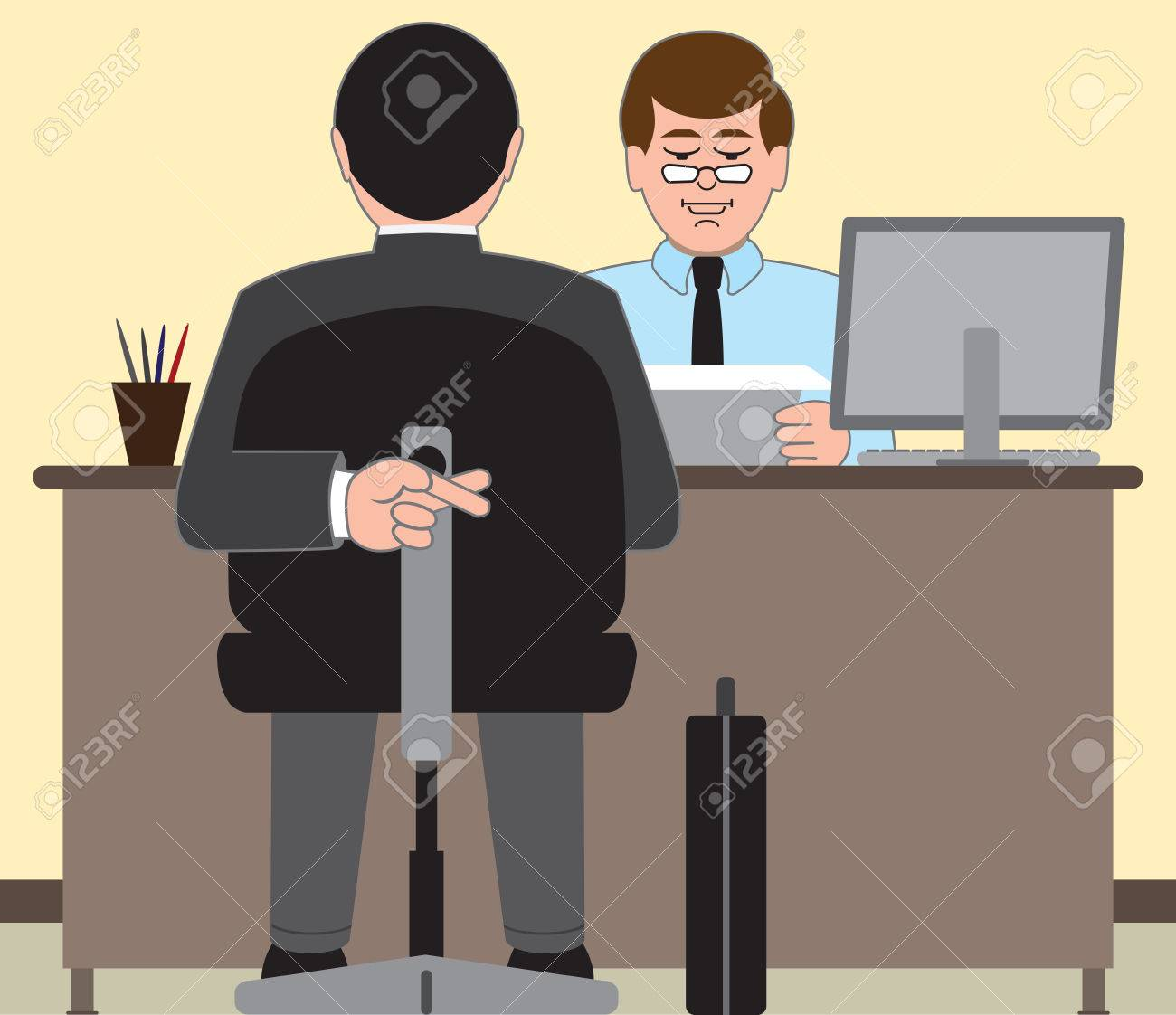 job applicant desperate to do well on his interview royalty job applicant desperate to do well on his interview stock vector 36907313
