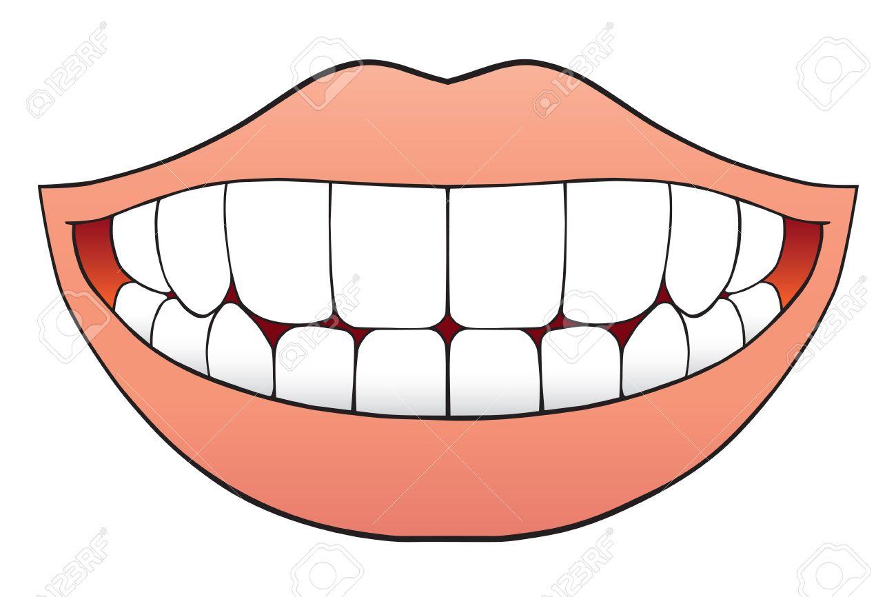 Mund Voller Zähne Einwandfreie Lizenzfrei Nutzbare Vektorgrafiken ...