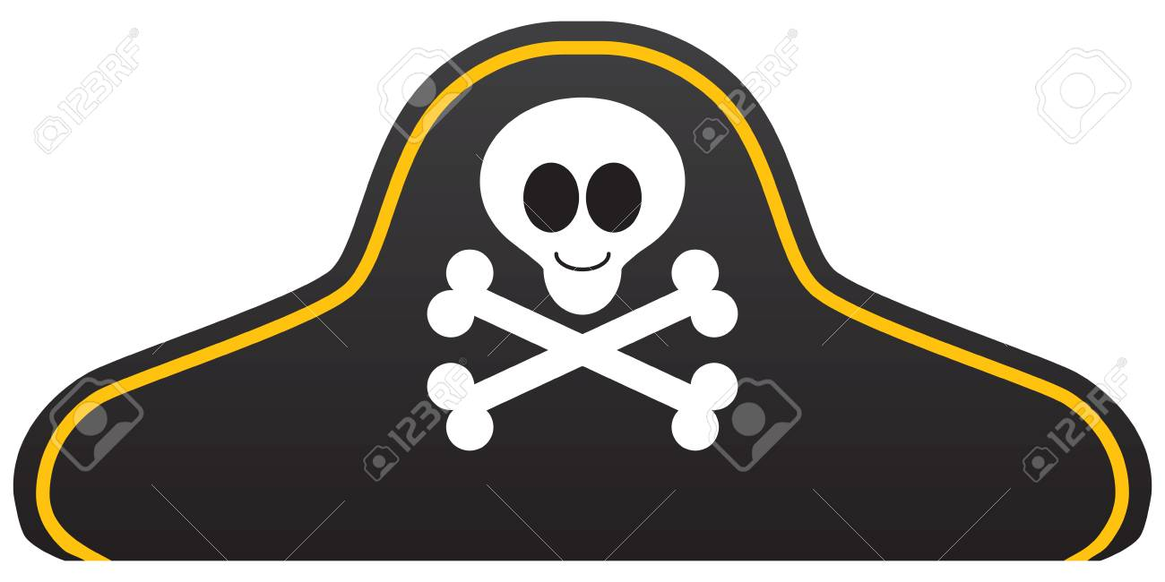 a cartoon pirate hat with a smiling skull and crossbones royalty rh 123rf com cartoon pirate ship cartoon pirate fairy
