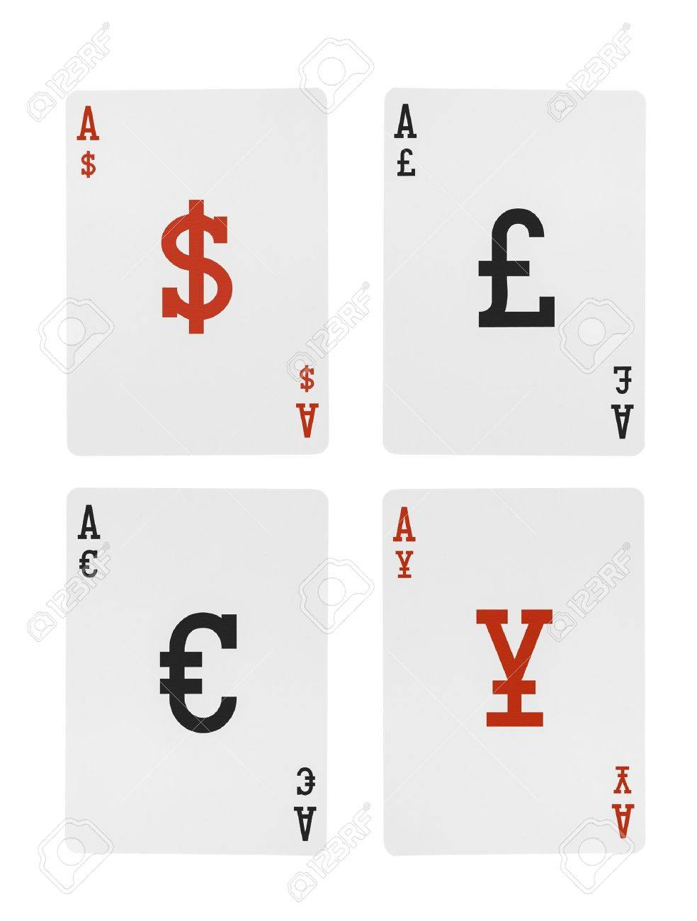 Foreign exchange playing cards aces dollar euro pound yen symbols foreign exchange playing cards aces dollar euro pound yen symbols stock photo 20885046 biocorpaavc Images