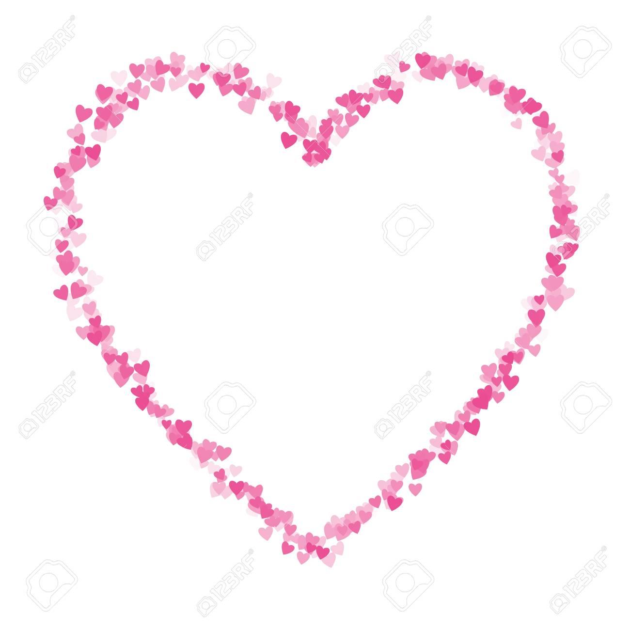 Coeur Rose D Amour Forme Composee De Coeurs Banque D Images Et