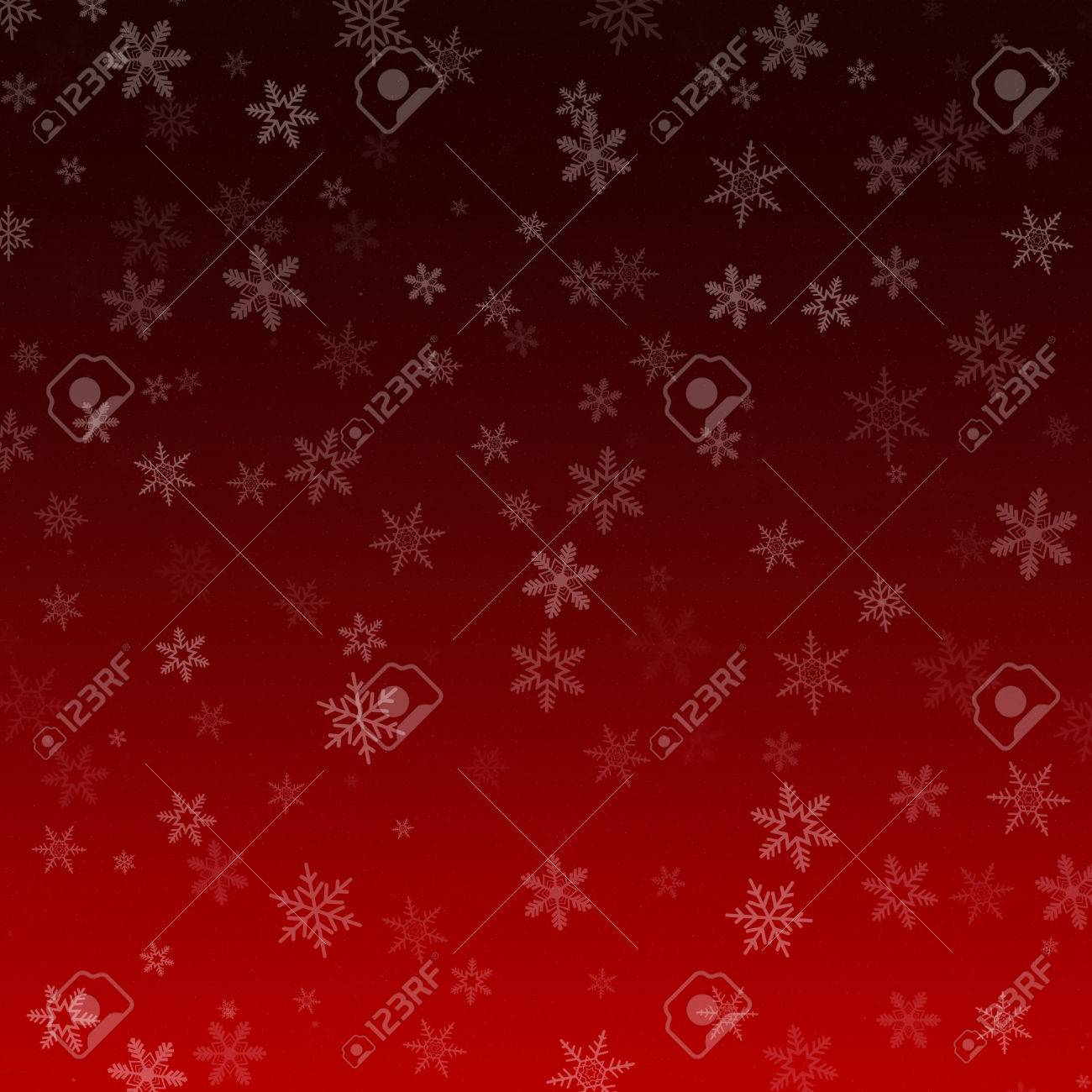red abstract vertical gradient snowflake christmas background stock