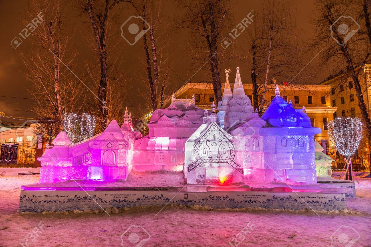 winter 2014 evening russia moscow the hermitage garden