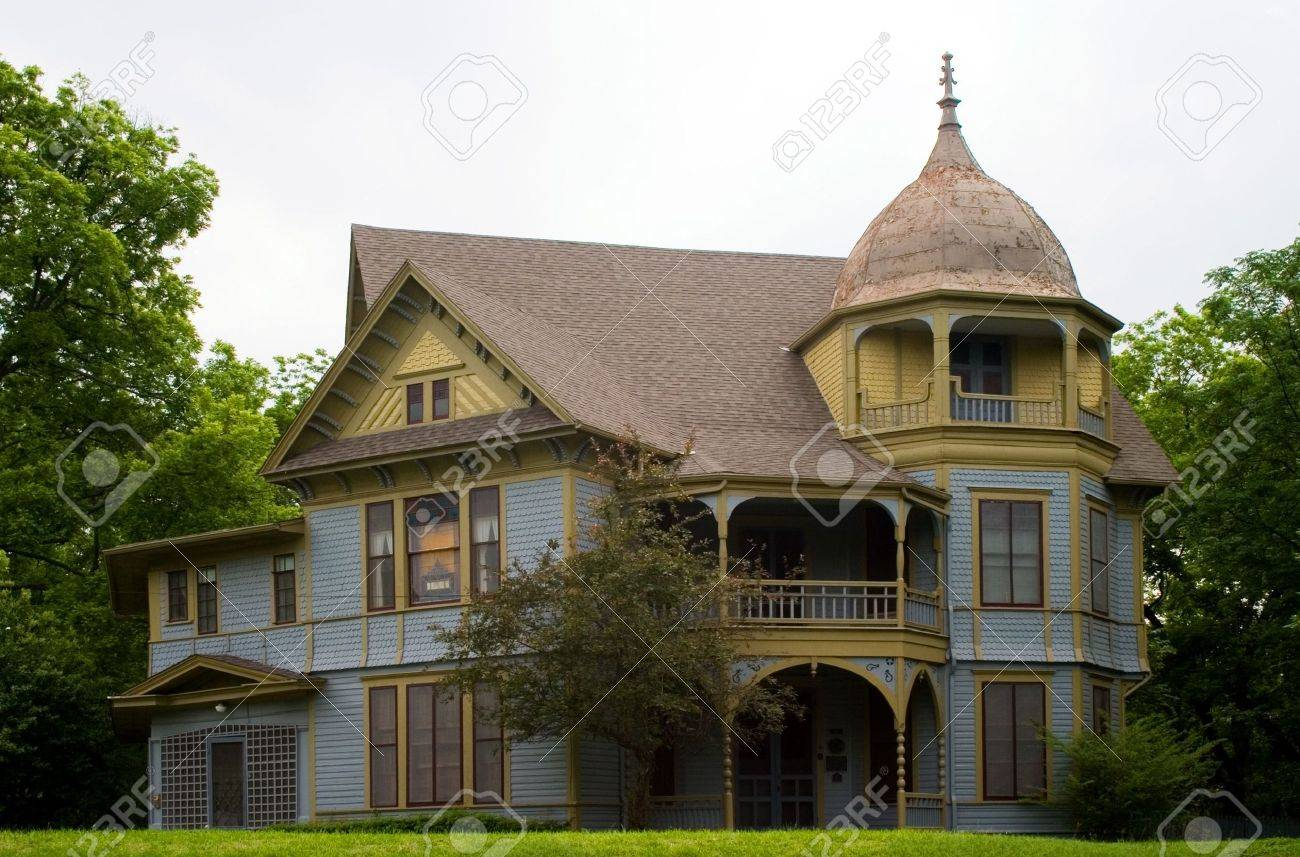 Gothic Victorian Style House Stock Photo