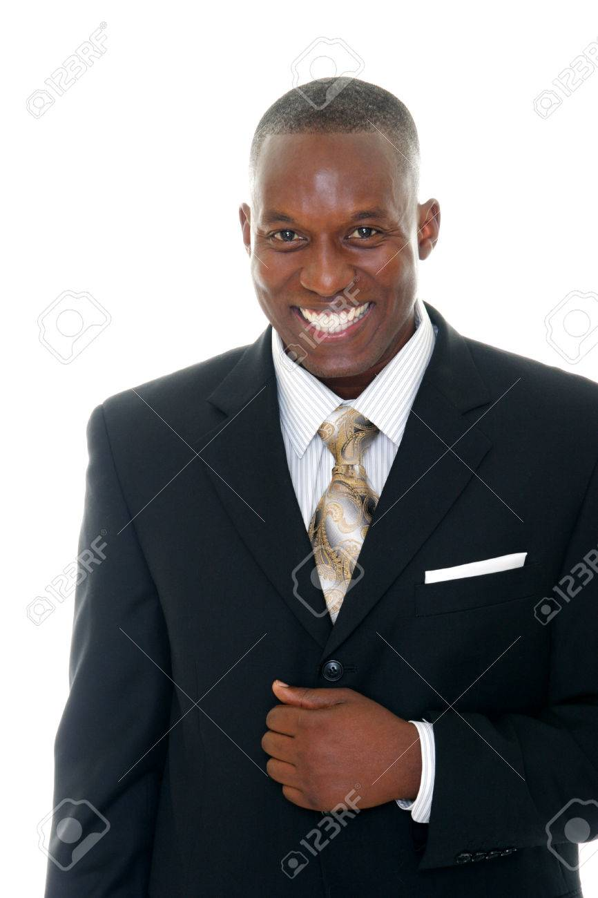 Handsome man in black business suit. Stock Photo - 1397454