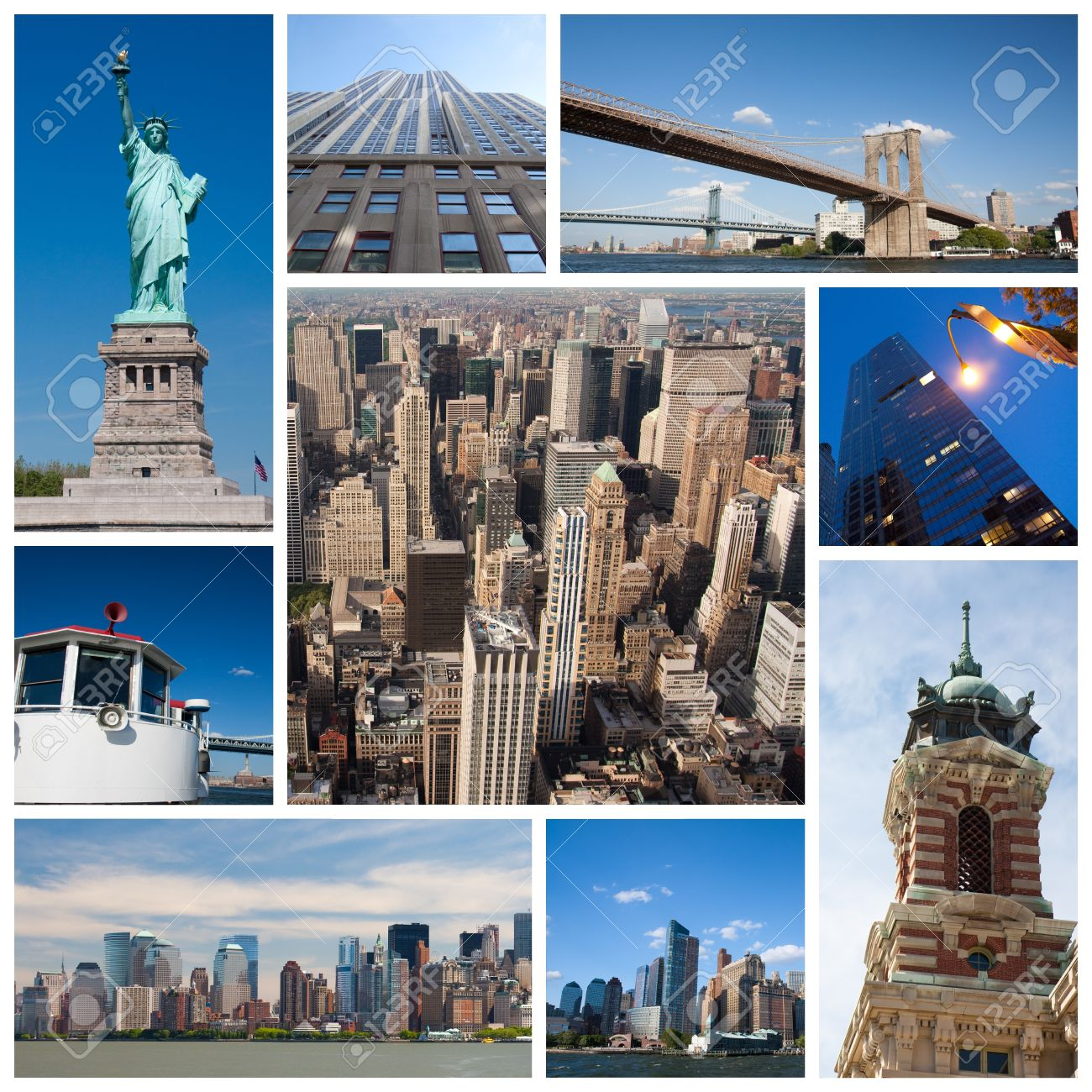 New York City Landmarks And Tourist Destinations Collage – Tourist Attractions New York City