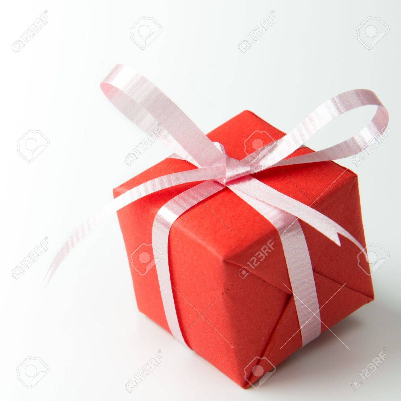 Red gift box with pink color ribbon isolated on white background red gift box with pink color ribbon isolated on white background stock photo 17090844 negle Images