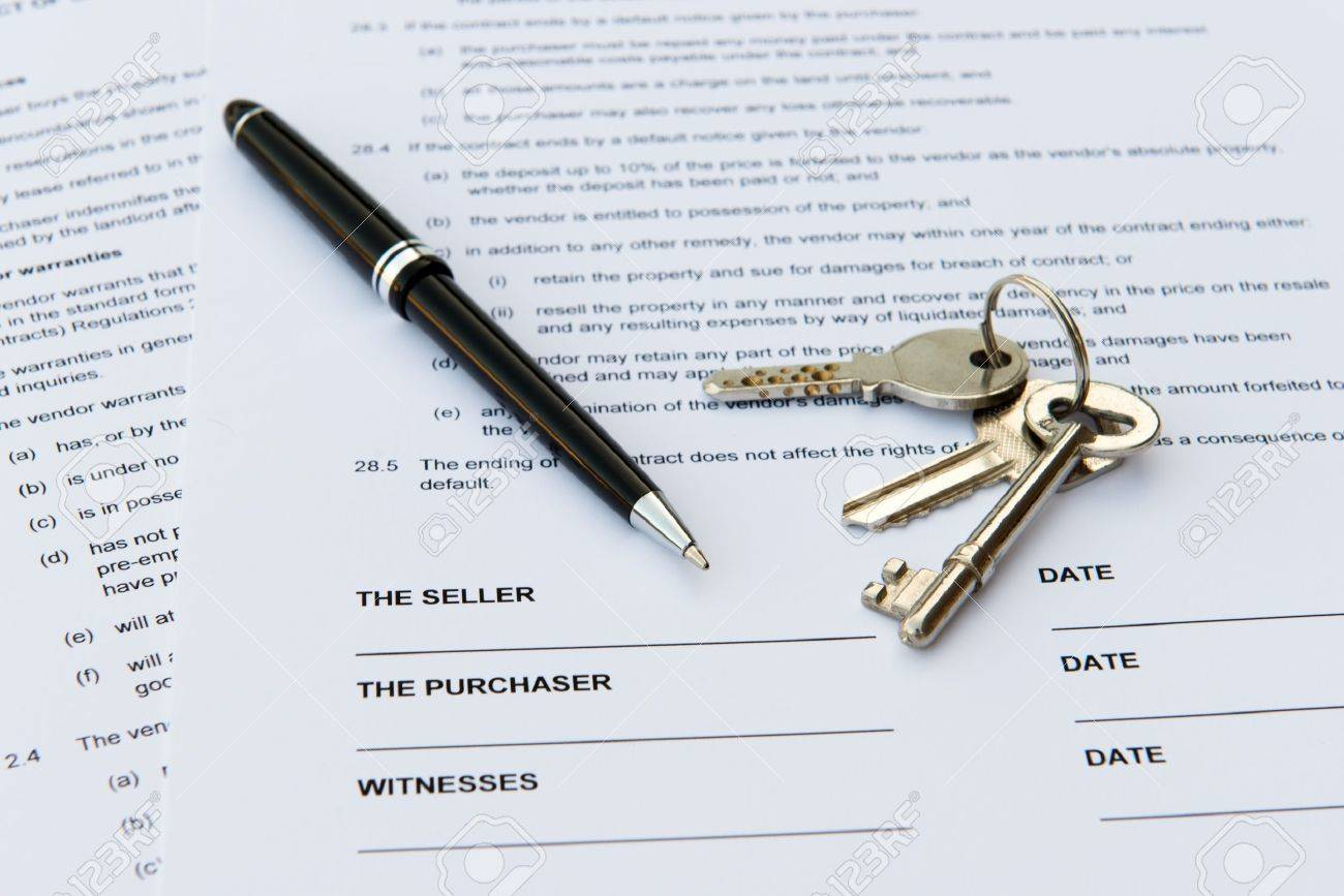 Legal Document For Sale Of Real Estate Property Stock Photo Picture - Real estate legal documents