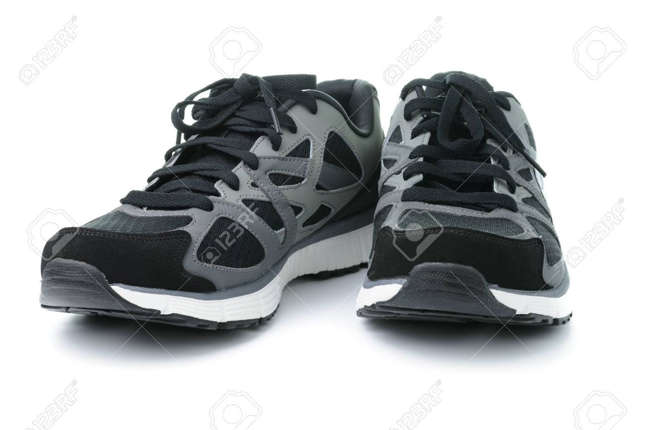Close up of men sport shoes on white background - 32008899