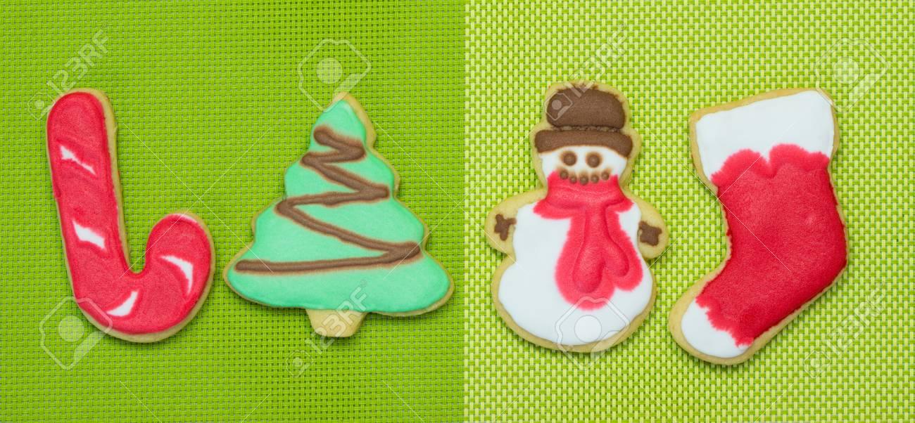 Biscuits De Noel Faits Maison Decores De Glacage Royal Banque D