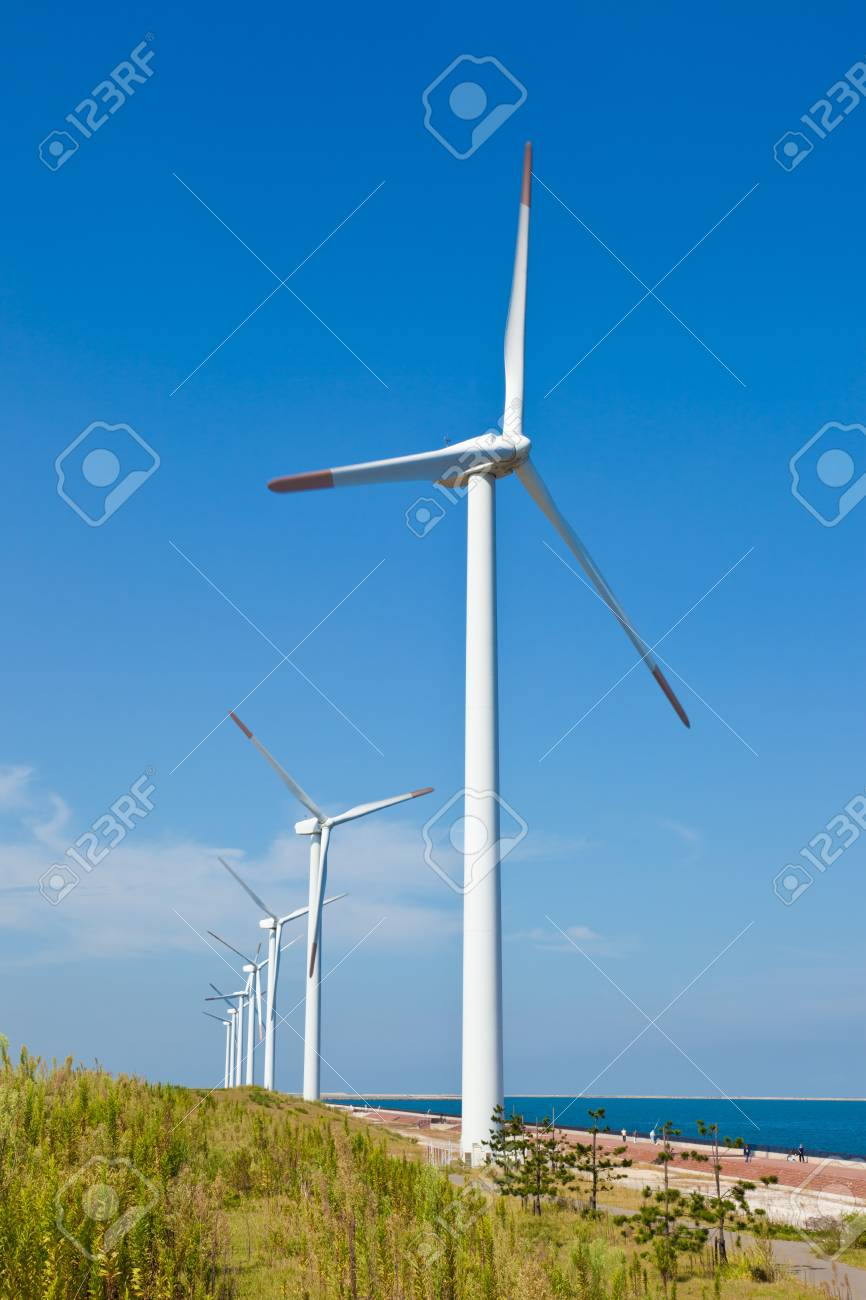 This is a photograph of a wind farm that I have taken. Stock Photo - 16733606