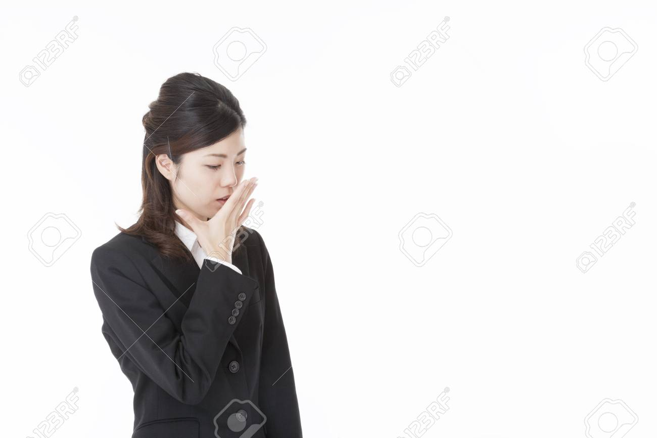 a business woman that has a cough. Stock Photo - 20143346