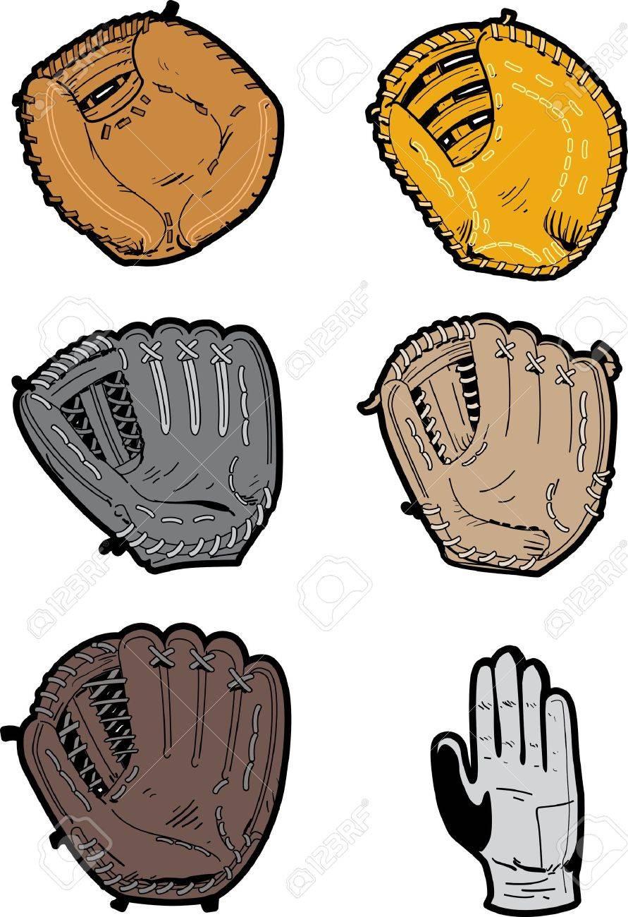 Seis Surtidos De Béisbol Profesional Tipos De Guantes: Guantes ...