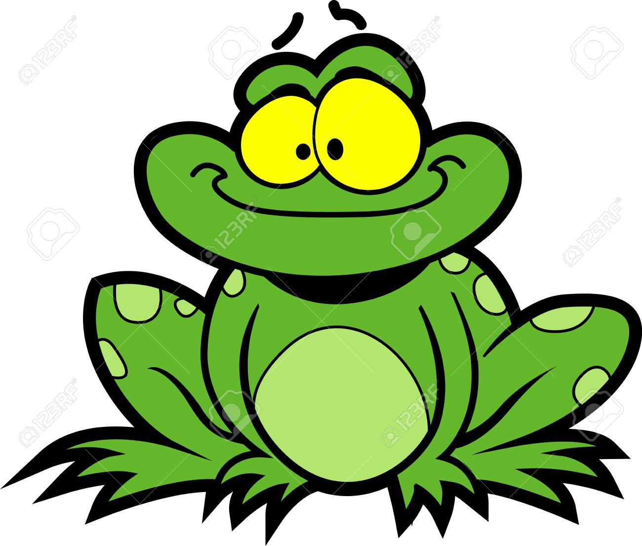 Happy Smiling Cartoon Frog Royalty Free Cliparts Vectors And Stock