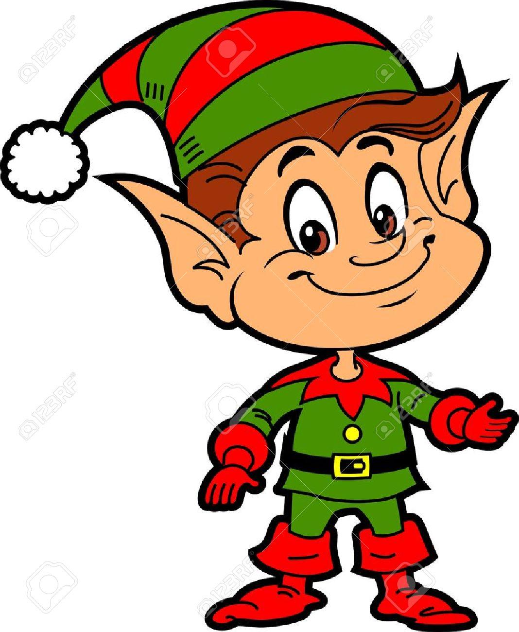 Happy Smiling Boy Christmas Santa's Elf Stock Vector - 20686105