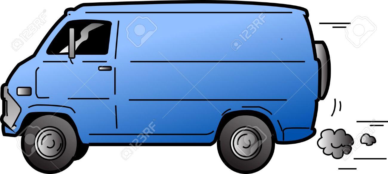 Cool Beat-up Blue Van Stock Vector - 20687007