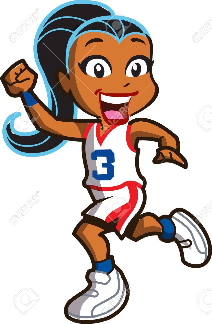 Girl Basketball Player Drawing